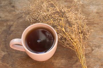 чашка чая и сухоцветы