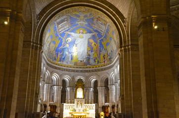 Sacre Ceure de Montmartre cathedral in Paris