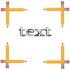 рамка-с-карандашей-для-текста