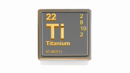 Chemical element. Ti. 3d