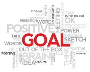 Red Goal word concept vector artwork