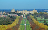 Fototapety The Long Walk and Windsor Castle