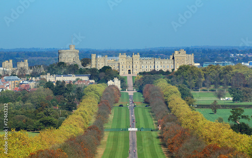 Fototapeta The Long Walk and Windsor Castle