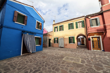 Buildings in Burano Island, Italy