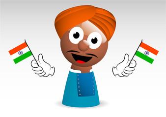 stereotipo indiano, indiano, mascotte, personaggio