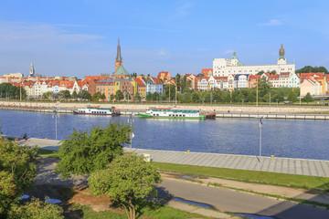 Szczecin   panorama   miasto   rzeka