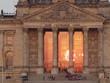 Sonnenreflektion am Reichstag