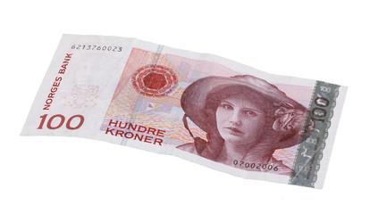 Norwegian 100 kroner bill