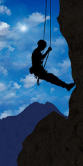 ag4 AlpinistGraphic - climber 1 in the alps - g2384