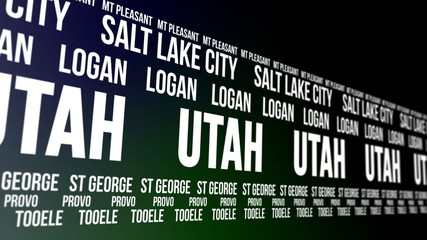Utah State and Major Cities Scrolling Banner