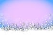 X-Mas Card - Snowy - Blue - Pink