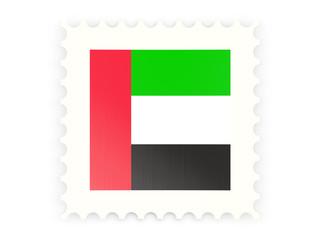 Postage stamp icon of united arab emirates