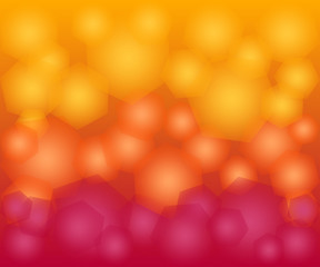 yellow and red gradient hexagon bokeh