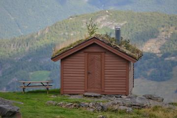 Berghütte am Abgrund, Norwegen