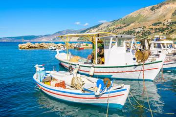 reek fishing boats in port of Zola village, Kefalonia island