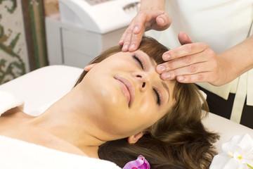 massage and facial peels at the salon cosmetics