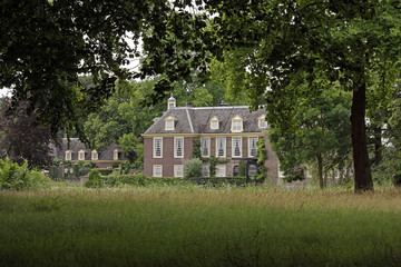 View on the Dutch classical estate De Wiersse