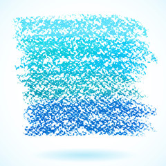 Blue pastel crayon spot, isolated on white background