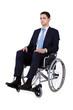 Portrait Of Confident Businessman Sitting In Wheelchair
