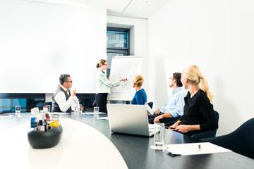 Business - Präsentation in Team Büro
