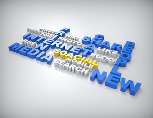 Social media Crossword concept