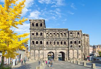 Porta Nigra in Trier on a beautiful day