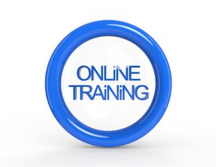 Online training blue button