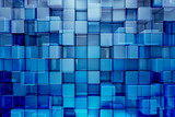 Fototapety Blue blocks abstract background