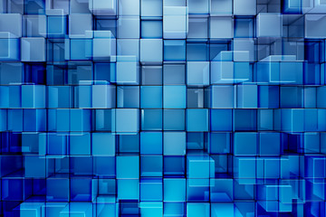 Fototapeta 3D niebieskie bloki
