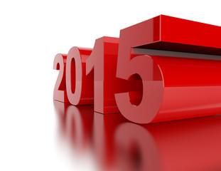 New Year 2015 isolated on white background