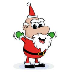 Happy Santa, Cartoon Santa Claus