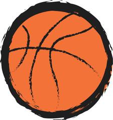 doodle basketball ball