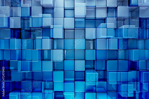 Blue blocks abstract background - 72470403