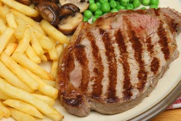 Sirloin Steak Dinner with Fries