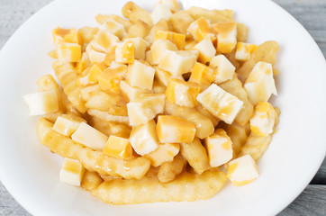 food, closeup, isolated, french fries, dish, quebec, meal, plat
