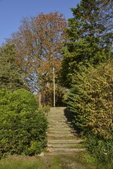 L'escalier au parc Roi Baudoin de Jette à Bruxelles