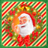 Fototapety santa claus graphic vintage