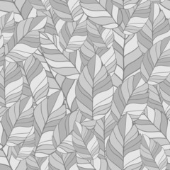 seamles pattern of leaves in shades