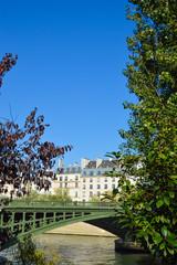 Siene Paris river during summer autumn time , city view