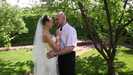 bride and groom kissing 2