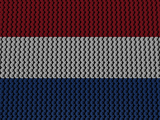 Dutch Euros Flag background illustration