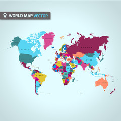 Big global world map