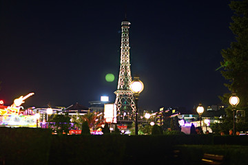 night view of the city lights of the resort