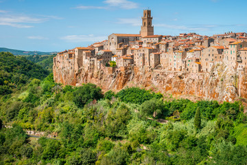 Old town Pitigliano Tuscany Italy