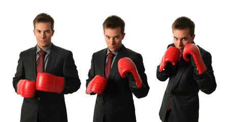 Boxing businessmen