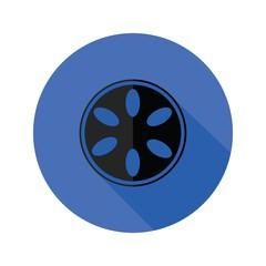camera spool flat icon