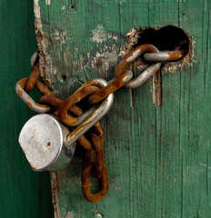 Old Lock and Chain.