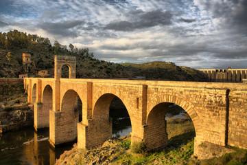 Roman bridge of Alcantara, sunny side