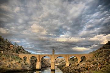 Roman bridge of Alcantara. HDR