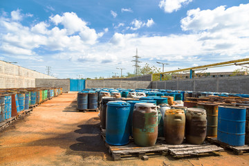 Several barrels of toxic